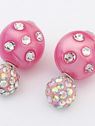 Stud Earrings Lady Girls' Euramerican Fashion Adorable Rhinestone Boll Earrings Daily Party Movie Gift Jewelry