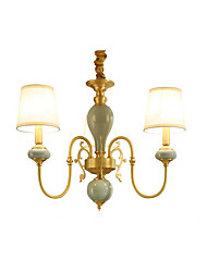 Chandelier ,  Traditional/Classic Country Brass Feature for LED Mini Style Metal Living Room Bedroom Dining Room Study Room/Office 3 Bulbs