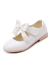 Girls' Sandals Casual  Summer Fall Party Casual Walking Bowknot Chunky Heel Blushing Pink White Gold Under 1in