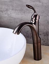 Torneira cerâmica torneira pia do banheiro com antique orb finish waterfall centerset faucet