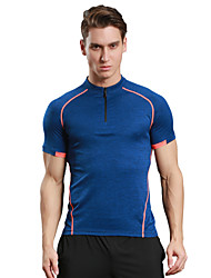 Men's Running T-Shirt Short Sleeves Quick Dry Breathable Soft Compression Comfortable T-shirt Top for Camping / Hiking Exercise & Fitness