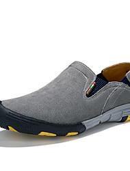 Herren Schuhe Leder Schweineleder Frühling/Herbst Ganzjährig Komfort Loafers & Slip-Ons Wandern Elastisch Für Sportlich Normal Grau Braun