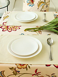 Modern Simple Color Beige Cotton And Linen Table Placemat 30*45cm Single-sided