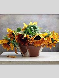Oil Paintings Still Life Style Canvas Material With Wooden Stretcher Ready To Hang Size 60*90 CM .