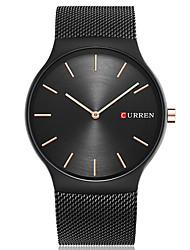 CURREN Муж. Модные часы Наручные часы Уникальный творческий часы Повседневные часы Кварцевый Крупный циферблат Нержавеющая сталь Группа