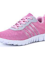 Femme Chaussures d'Athlétisme Confort Polyuréthane Eté Athlétique Marche Confort Talon Plat Gris Violet Bleu Rose Plat