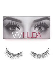 VVHUDA Reusable Fake Lashes Handmade Fur Cruelty Crisscross 3D Soft Natural Cross Eye Voluminous Eyelashes Extension Makeup Andrey