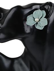 Women's Stud Earrings Hoop Earrings Earrings Fashion Bohemian Handmade Floral Plastics Imitation Pearl Resin Flower Jewelry ForGift Going