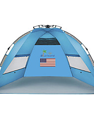 2 Personen Zelt Einzeln Falt-Zelt Einzimmer Camping Zelt 1000-1500 mm Polyester-Taft Silber BandCamping & Wandern Regendicht Staubdicht