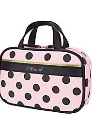 Women Cosmetic Bag Nylon All Seasons Casual Baguette Zipper Blushing Pink White Blue