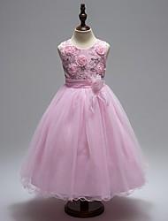 robe de bal longueur de genou robe de fille de fleur - organza sans manches cravate avec sequin par mille
