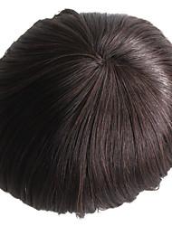 Натуральный человеческий волос мужские туфли цвет 2 # шиньоны для мужчин длинный человеческий волос длинные волосы 7 дюймов для мужчин