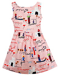 Girls Dress Pink Princess Dresses Clothes Character Printed Robe Fillette Costumes Children Clothing