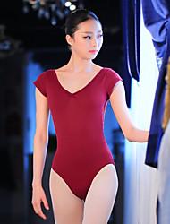 Danza classica Body Per donna Addestramento Cotone Di pizzo Ricami 1 pezzo Maniche corte Alto Calzamaglia