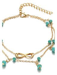 Femme Bracelet de cheville/Bracelet Alliage Mode Bohême bijoux de fantaisie Infini Bijoux Pour Quotidien Décontracté