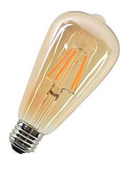 4W LED лампы накаливания ST64 4 COB 360 lm Тёплый белый Декоративная AC 220-240 V 1 шт. E27
