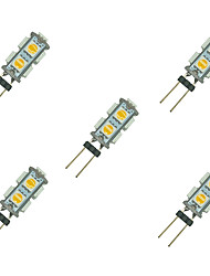 1.5W LED Crystal Light G4 9SMD 5050 Warm White/White DC12V 5Pcs