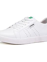 Men's Sneakers Comfort Spring Fall PU Outdoor White Black Green Flat