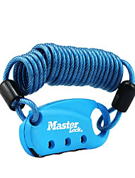 MasterLock 1551DAST Password Padlock Zinc Alloy 3 Digit Password Flexible Cable Password Security Hook Dail Lock Password Lock