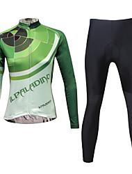 KEIYUEM Cyklodres a čapáky Dámské Dlouhé rukávy Jezdit na kole Cyklistické kalhoty Sady oblečeníVoděodolný Rychleschnoucí Větruvzdorné