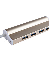 Cqt-h309 hub usb 3.0 5gbps super-velocidad 4 puertos con cable de 0.15m