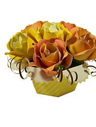 Puzzles Kit de Bricolage Puzzles 3D Blocs de Construction Jouets DIY  Roses Fleur