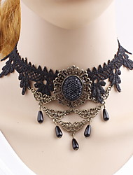Women's Choker Necklaces Irregular Lace Alloy Unique Design Friendship Personalized Euramerican Gothic Movie Jewelry Luxury USA British