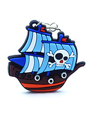 Key Chain Ship Blue Rubber
