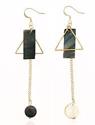 Women's Drop Earrings Acrylic Dangling Style Ferroalloy Acrylic Round Irregular Jewelry For Dailywear Casual Stage