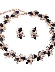 Mujer Juego de Joyas Collar / pulsera Los sistemas nupciales de la joyería Cristal Moda Cosecha Euramerican Estilo Simple Clásico