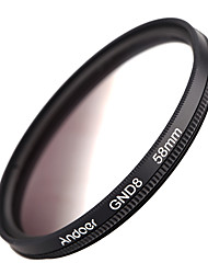 Andoer 58 мм круглая форма градуированная нейтральная плотность gnd8 градуированный серый фильтр для камеры canon nikon dslr