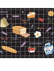 Halo tapis de souris en tissu original temps de petit déjeuner japonais caoutchouc naturel 22 * 18cm