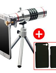 Lingwei 18x zoom iphone caméra téléobjectif lentille grand angle / trépied / support de téléphone / étui rigide / sac / chiffon de