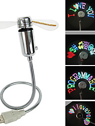 Ruishengda®summer hot sale usb programmable coloré led message fan