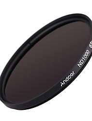 Andoer 67mm nd1000 10 stop fader filtro de densidad neutra para nikon canon dslr cámara