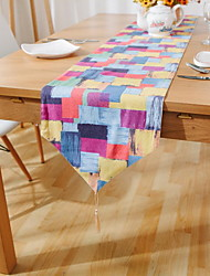 Scandinavian Geometric Pattern Of Color Cotton And Linen Table Flag 30*180cm