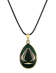 Lureme Vintage Jewelry Assassins Creed Teardrop Shape Pendant Necklace