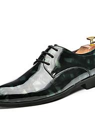 Homme Chaussures Croûte de Cuir Printemps Eté Automne Hiver Chaussures formelles Oxfords Marche Lacet Pour Mariage Soirée & Evénement