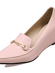 Women's Heels Basic Pump Synthetic Microfiber PU PU Spring Summer Wedding Office & Career Party & Evening Dress Basic Pump Wedge Heel