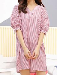 Women's Chemises & Gowns Nightwear Striped-Thin