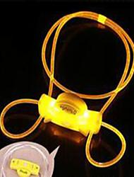 Colliers Portable Rechargeable Eclairage LED Sécurité Ajustable Couleur Pleine