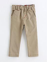 Pantalones Chico Un Color Algodón Primavera Otoño