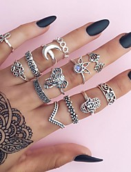 9PCS/Set Women's Midi Rings Basic Unique Design Classic Alloy Jewelry For Party Halloween Birthday Party/ Evening Dailywear