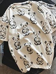 Tee-shirt Homme,Panda Quotidien simple Eté Manches Courtes Col Arrondi Tricot Moyen