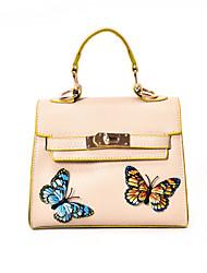 Women Shoulder Bag PU All Seasons Casual Flap Clasp Lock Blushing Pink Red Black