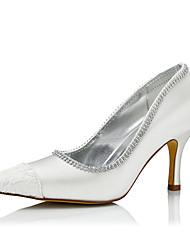 Women's Heels Comfort Silk Fall Winter Wedding Party & Evening Dress Comfort Stiletto Heel Ivory 2in-2 3/4in