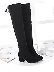 Women's Boots Comfort Suede Winter Casual Comfort Almond Black 2in-2 3/4in