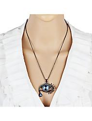 Mulheres Colares Declaração Imitação de Diamante Formato de Coração Mau Olhado LigaOriginal Coração Circulo Estilo Boêmio Personalizado
