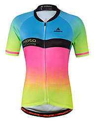 Miloto Cycling Jersey Ladies' Female Short Sleeves Bike Jersey Fast Dry Sweat-Wicking Stretchy Spandex Coolmax Spring/Fall Summer Cycling