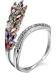 Ring Settings Ring  Luxury Elegant Noble Zircon  Women's  Multicolor Grain Rhinestone Euramerican Fashion Birthday Wedding Movie Gift Jewelry